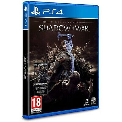 Middle Earth Shadow of War PS4 Game   Playstation 4 -Brand New