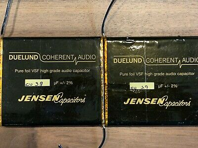 Duelund/Jensen 3.9uf Pure foil VSF high grade capacitor a pair