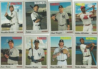2019 Topps Heritage High Number Short Print(701 - 725) U-Pick Complete Your Set