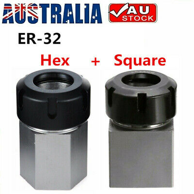 ER-32 Hex + Square Collet Chuck Block Holder for CNC Lathe Engraving Machine FT