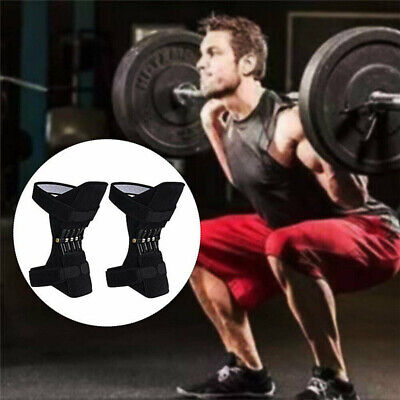 Men Power Knee Stabilizer Pads Powerful Rebound Spring Force Support Knee Pad US