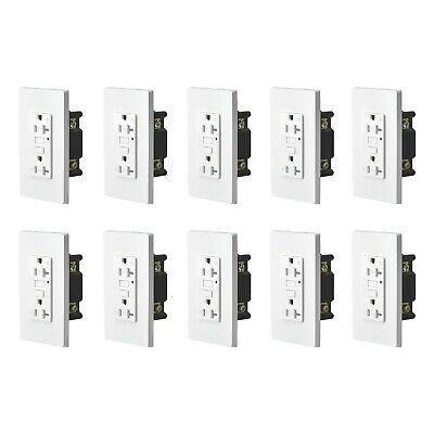 10PK 20AMP GFCI GFI Safety Outlet Receptacle w/ Wall Plate LED Indicator TR WR