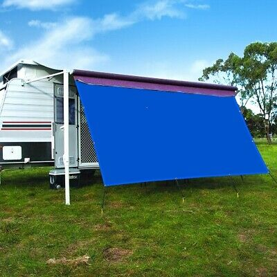 8x13 RV Awning Shade Motorhome Patio Sun Screen Complete Deluxe Kit Black