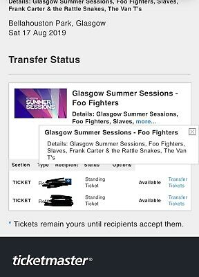 Glasgow Summer Sessions: Foo Fighters Tickets - Glasgow