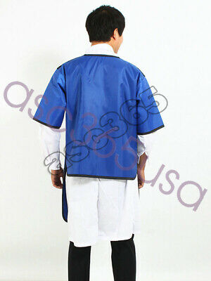 Scientific Research X-ray Protection Lead Apron Shield Vest Half Sleeves Belt L