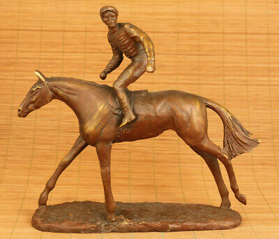 Big Chinese bronze hand casting soldier horseback riding statue table decoration