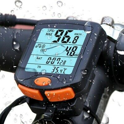 LCD Cycling Bike Bicycle Cycle Computer Odometer Speedometer Waterproof EHE8