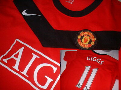Manchester United Nike Ladies Size 14 L Giggs Shirt Jersey Football Soccer Girls