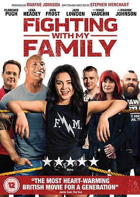 BRAND NEW & SEALED FIGHTING WITH MY FAMILY DVD (Dwayne Johnson, Florence Pugh)