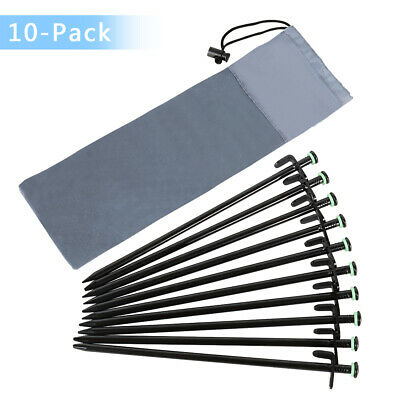 """6 pack of 12/"""" long zinc metal forged tent stakes,anchors,pegs,spikes  62512HZC6"""
