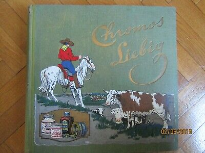 "Album chromos Liebig ""Cow-boy"" complet avec 300 images"