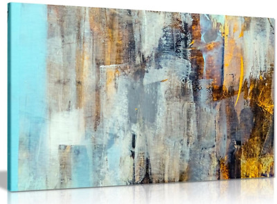 Abstract Modern Contemporary Home Canvas Wall Art Picture Print 18x12in