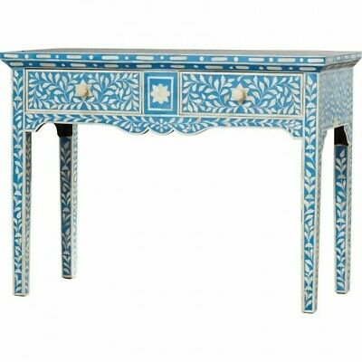 Bone Inlay 2 Drawers Console Table