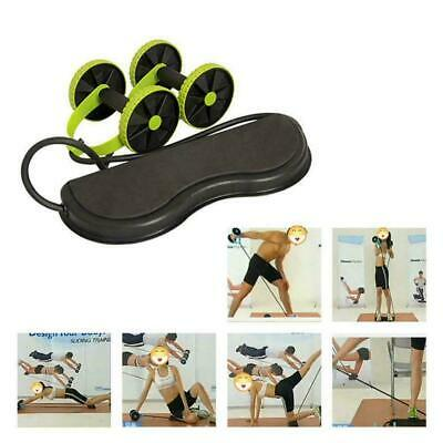 Abdominal Power Roll Trainer Waist Slimming Exerciser Core Fitness Double W K5F9