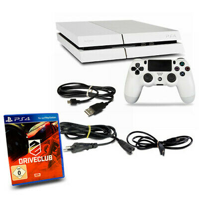 PS4 - Playstation 4 Console CUH1216A 500GB Bianco #35 +Controller+Driveclub