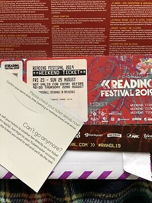 Reading Festival 2019 Full Weekend Ticket (special Next Day Delivery)