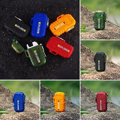 Electric Lighter Dual Arc Cigarettes Plasma Rechargeable Windproof Flameless Usb