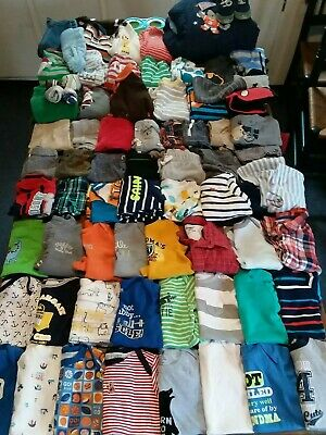 Huge 78 Piece Lot Baby Boy Clothes Sizes 6-9 & 9 months.sleepers, outfits, pants