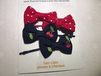 NWT GYMBOREE Single NAVY BLUE Bow Bobby Pin Barrette HAIR ACCESSORIES