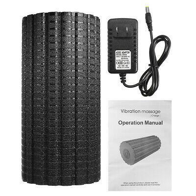 Vibrating Foam Roller Massage Yoga Gym Four-speed Adjustable Solid Bubble