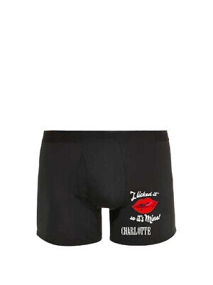 I Licked It So Its Mine Men's Novelty/Funny/Humouress/Personalised Boxer Trunks