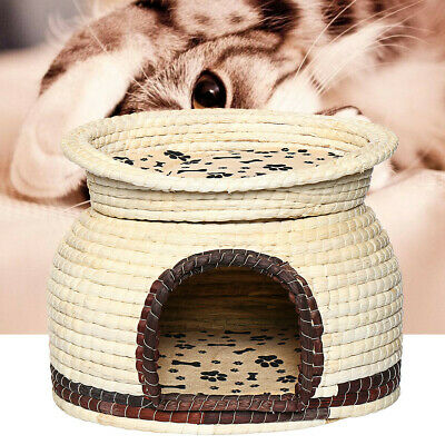 Dual Use Pet Dog Cat Soft Bed House Kennel Puppy Cushion Basket Cage Supplies