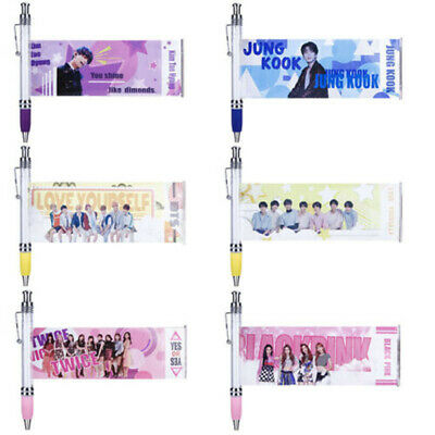 2019 KPOP Ink Gel Pen BLACKPINK TWICE Photo Gift Ball Point Pens JUNGKOOK V