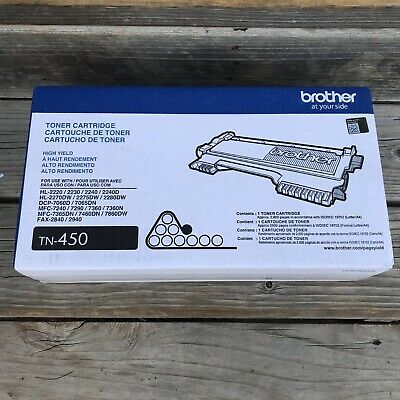 Genuine Brother TN-450 High Yield Toner Cartridge New in Sealed Box