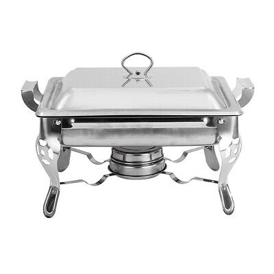 1PC 6L Thick Square Stainless Steel Buffet Stove For Cooking Food Constant Tempe