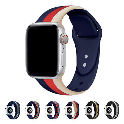 For Apple Watch iWatch 5 4/3/2 Silicone Sport Wrist Strap Band Bracelet 40/44mm