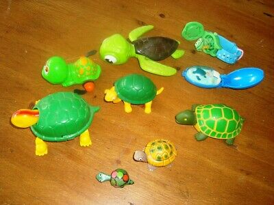 Collection Of 9 Toy Tortoise/Turtle