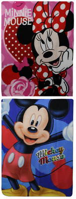 Girls & Boys Mickey Mouse Blanket Disney Minnie Mouse Fleece Blanket