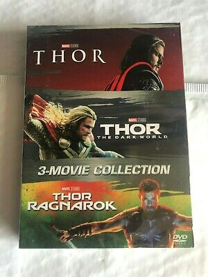 Thor Trilogy 3-Movie Boxset DVD All 3 Movies Included! Thor Ragnarok Dark World