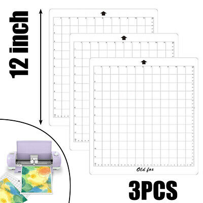 "3X 12*X12"" Replacement Cutting Mat Measuring Grid Adhesive For Silhouette Cameo"