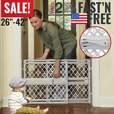 Baby Gates Safety For Stairs Child Extendable Wide Indoor Tall Infant Toddler