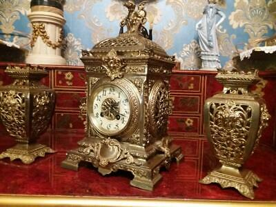 C19th French Clock Garniture Set (S Marti)