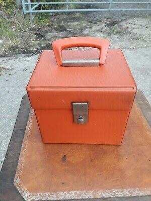 "VINTAGE SINGLES 7"" Orange VINYL RECORD CASE."