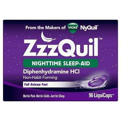 Zzzquil Nighttime Sleep Aid Supportl 72 LiquiCaps FREE SHIPPING WORLDWIDE