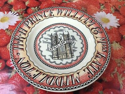 "Emma Bridgewater Will & Kate Royal Wedding  8.5"" Plate New Best"