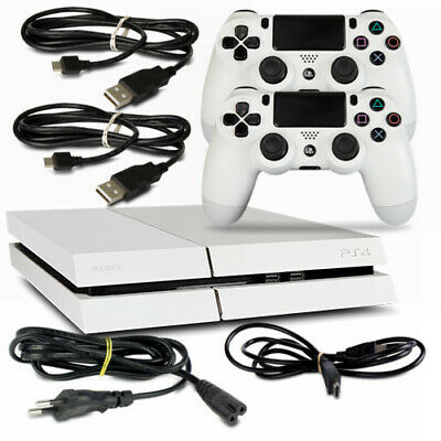 Playstation 4 - PS4 Console CUH1216A 500GB Bianco #35 + Cavo + 2 Controller