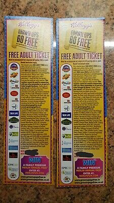 Merlin Attractions Theme Parks Adults Go Free Vouchers x 2 Legoland Alton Towers
