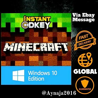 Minecraft: Windows 10 Edition PC ONLY, ACTIVATION KEY ONLY, FULL GAME