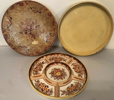 Vintage Hand Painted Japanese Appetizer Plate With Box—Beautiful!