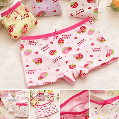 Kids Girls Underwear Panties Soft Underpants Boxers Briefs Shorts Knickers New