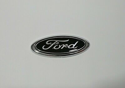 BLACK FORD Badge for Mondeo Focus etc. Rear Boot Trunk with Sticker 115 x 45 mm