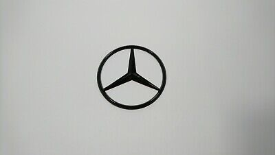 Mercedes Benz Black Gloss Badge Logo Emblem Rear Boot Class C B E S GLK ML 90mm