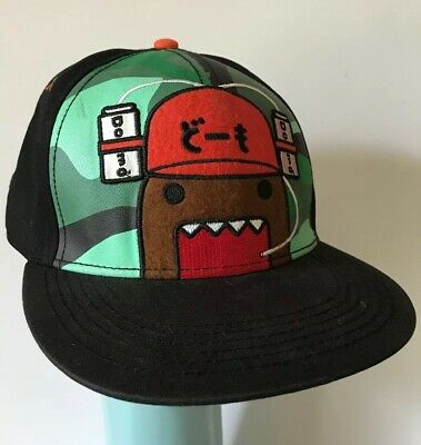 Domo Face Drink Hat Animation Snapback Japanese Flat Bill Character Hat Cap