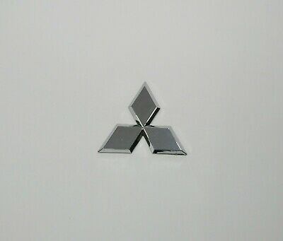 MITSUBISHI Emblem Badge Logo Silver Chrome with sticker 80 x 70 mm