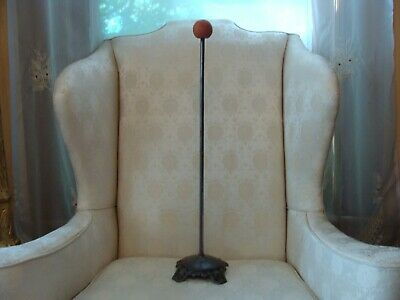 """Antique 22"""" Cast Iron Victorian Hat Stand Millinery Hat Counter Top Display"""