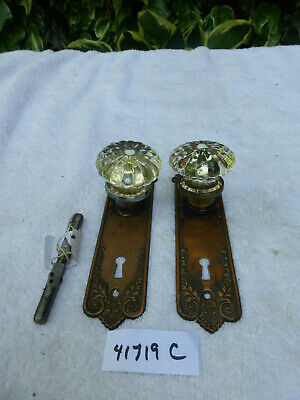 "Vintage Antique Corbin ""Little Lorraine"" 1905 Door Hardware SET 41719 C"